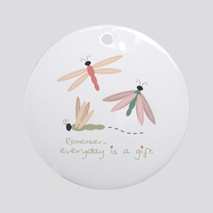 Dragonfly Day Gift Ornament (Round)