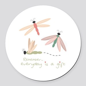 Dragonfly Day Gift Round Car Magnet