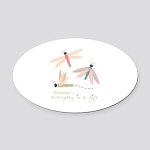 Dragonfly Day Gift Oval Car Magnet