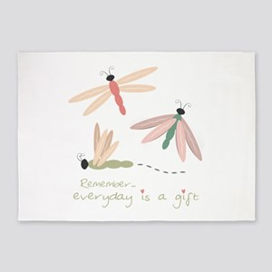 Dragonfly Day Gift 5'x7'Area Rug
