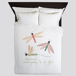 Dragonfly Day Gift Queen Duvet