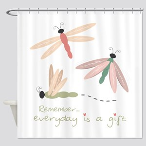Dragonfly Day Gift Shower Curtain