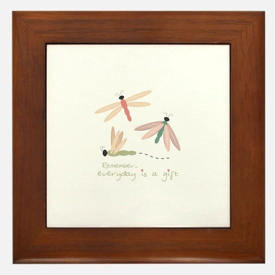 Dragonfly Day Gift Framed Tile