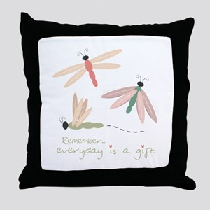 Dragonfly Day Gift Throw Pillow