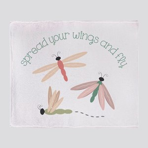 Dragonfly Spread Wings Throw Blanket