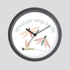 Dragonfly Spread Wings Wall Clock