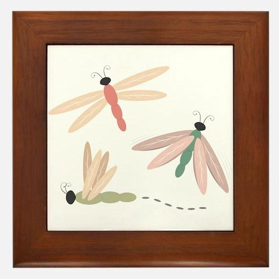 Dragonfly Bugs Framed Tile