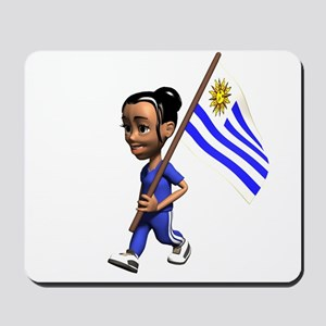 Uruguay Girl Mousepad