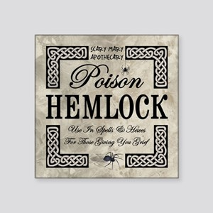 "POISON HEMLOCK Square Sticker 3"" x 3"""