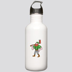 Paul Bunyan LumberJack Isolated Cartoon Water Bott