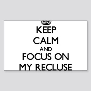 Keep Calm and focus on My Recluse Sticker