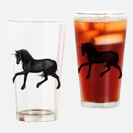 Black Unicorn Drinking Glass