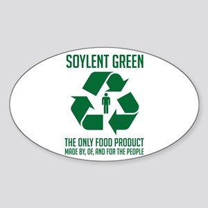 Soylent Green Oval Sticker