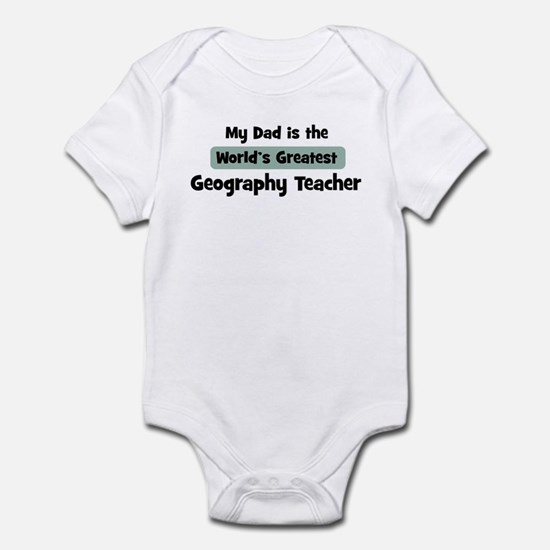 Worlds Greatest Geography Tea Infant Bodysuit