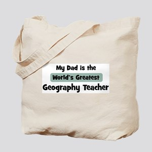 Worlds Greatest Geography Tea Tote Bag