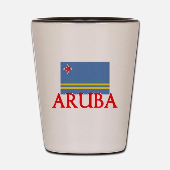 Aruba Flag Design Shot Glass