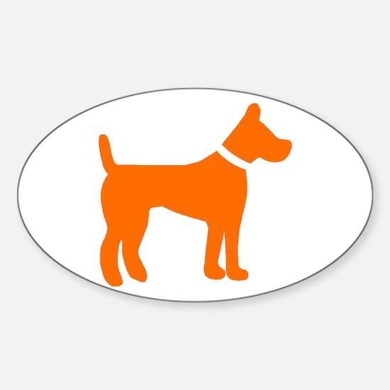 dog orange 1C Decal
