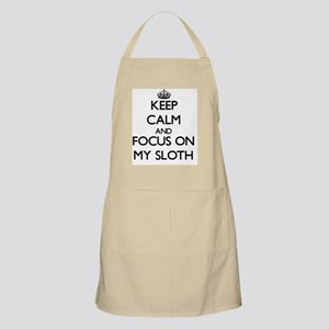 Keep Calm and focus on My Sloth Apron
