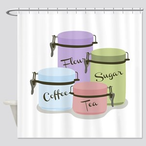 Canisters Shower Curtain