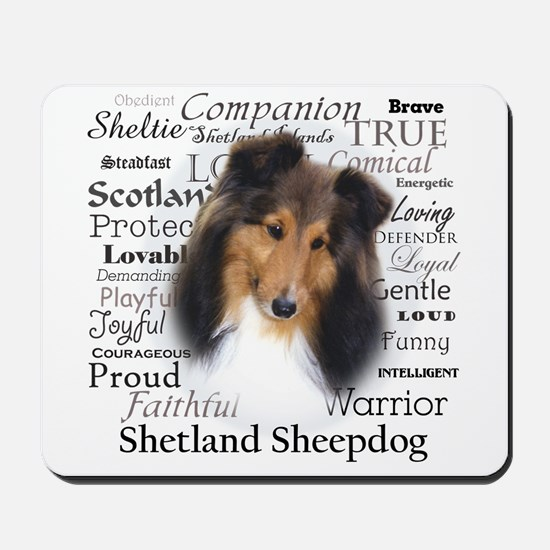 Casey Sheltie Traits Mousepad