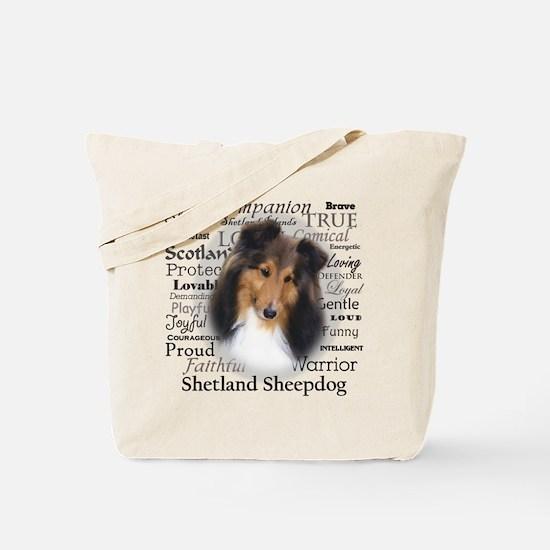 Casey Sheltie Traits Tote Bag