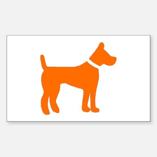 dog orange 2 Decal