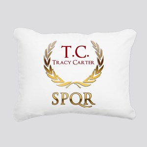 Roman Laurels Rectangular Canvas Pillow