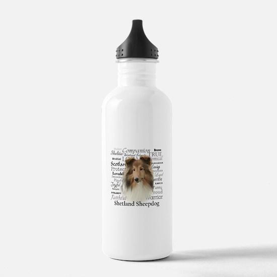 Sheltie Traits Water Bottle