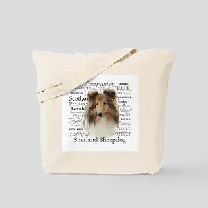 Sheltie Traits Tote Bag