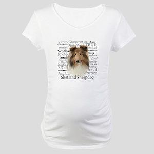 Sheltie Traits Maternity T-Shirt