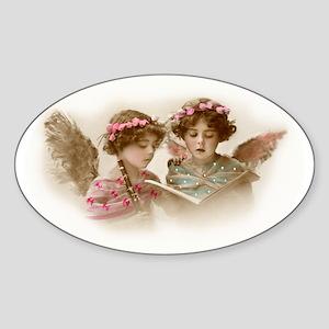 Victorian Children Sticker (Oval)