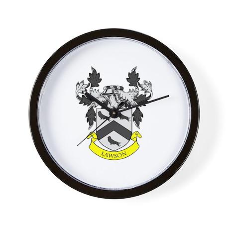 LAWSON Coat of Arms Wall Clock