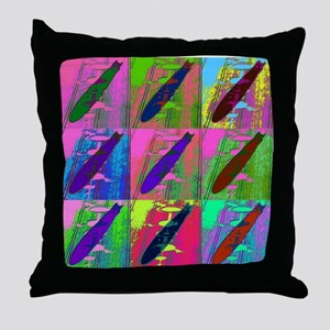 Warhol Zeppelins Throw Pillow