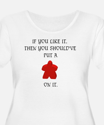 Meeple mash up (BLK lettering, l Plus Size T-Shirt