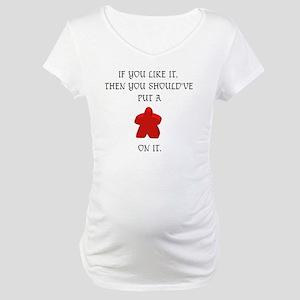 Meeple mash up (BLK lettering, l Maternity T-Shirt