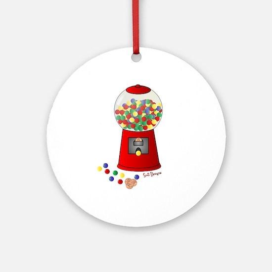 Bubble Gum Machine Ornament (Round)
