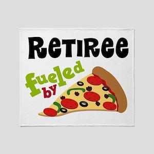 Retiree Funny Pizza Gift Throw Blanket