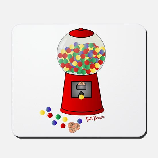 Bubble Gum Machine Mousepad