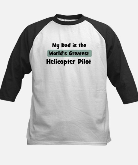 Worlds Greatest Helicopter Pi Kids Baseball Jersey