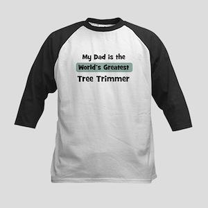 Worlds Greatest Tree Trimmer Kids Baseball Jersey