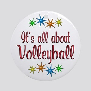 About Volleyball Ornament (Round)