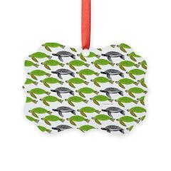 School of Sea Turtles v2sq Ornament