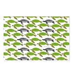 School of Sea Turtles v2sq Postcards (Package of 8