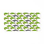 School of Sea Turtles v2sq Aluminum License Plate