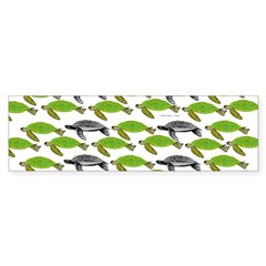 School of Sea Turtles v2sq Bumper Bumper Sticker