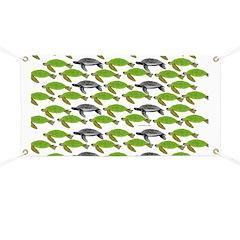 School of Sea Turtles v2sq Banner
