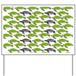 School of Sea Turtles v2sq Yard Sign