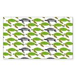 School of Sea Turtles v2sq Sticker