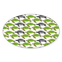 School of Sea Turtles v2sq Decal