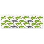 School of Sea Turtles v2sq Bumper Sticker